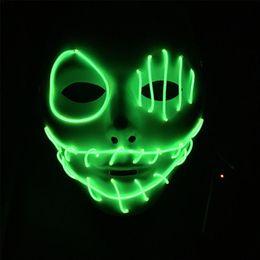$enCountryForm.capitalKeyWord Australia - El cold light glow mask Halloween Bar KTV holiday ball led flash face mask for Glowing Dance Carnival Party Masks