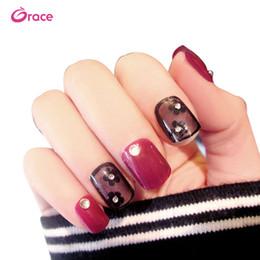 Venta al por mayor de Las puntas de uñas de plástico artificial C21 presionan las puntas de uñas largas. Pre diseño de las puntas de uñas de cubierta completa