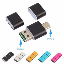 Discount 128gb tf - USB OTG Adapter 2 in 1 USB 2.0 Micro OTG Adapter Type C Converter Support 128GB TF Card Reader Phone Adapters