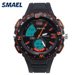 $enCountryForm.capitalKeyWord Canada - SMAEL Fashion LED Digital Men Watches 50m Waterproof Clock Cool Sport Watch  S Wristwatch for Man
