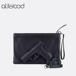$enCountryForm.capitalKeyWord Canada - 3D Print Gun Pistol Bag Brand Women Bag Chain Messenger Bags Designer Clutch Purse Ladies Envelope Clutches Crossbody Bolsas