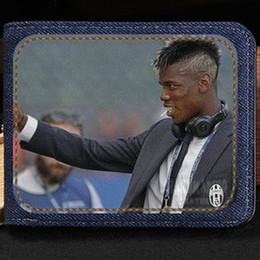 Football Wallets NZ - Paul Pogba wallet New cool purse Football star short cash note case Money notecase Leather burse bag Card holders