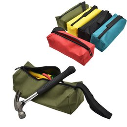 Tool Organizers Large Capacity Waterproof Tool Bag Electrician Plumber Portable Screws Drill Bit Storage Pouch Hand Repair Tool Organizer Case