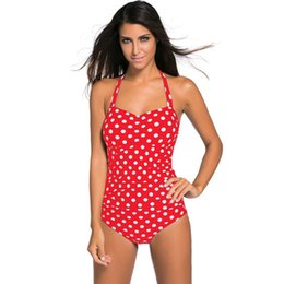 eff6bb7623e7e SwimSuitS halter neck online shopping - Summer Bikini Suits Women s Polka  Dot Printed Sexy Halter