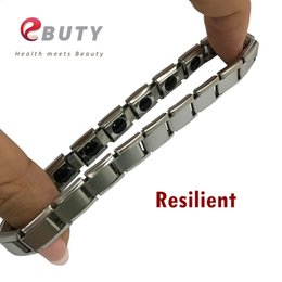 Wholesale Boxes Packaging Australia - EBUTY Sport Bracelet Silver Germanium Energy Bracelets Stainless Steel Jewelry With Retail Package Box Best Gift for Lover 50pcs