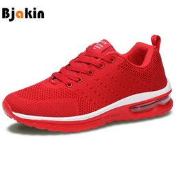 $enCountryForm.capitalKeyWord Canada - Bjakin 2018 Men Women Cushion Air Mesh Running Sneakers Male Female Walking Shoes Super Breathable Sports Shoes Plus Size 47