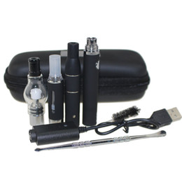 China 3 in 1 zipper case Wax Vaporizer Pen Kit Dry Herb electronic cigarettes with atomizer MT3 Glass atomizer EVOD Battery 650mah 900mah 1100mah cheap electronic cigarettes suppliers