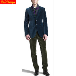 $enCountryForm.capitalKeyWord Canada - men's casual jacket winter velveteen blazers wedding party blazer suits tuxedos men's waistcoat tailored coat navy green wine VA