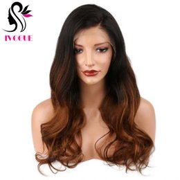 long dark wavy hair NZ - Dark Brown Ombre Full Lace Wig Long Wavy Virgin Peruvian Body Wave Gluless Human Hair Lace Wigs Ombre Lace Front Wig #1B 8