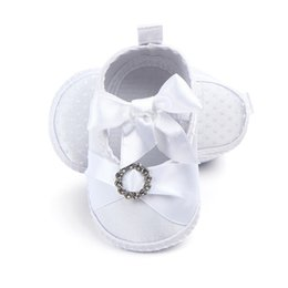 c8093e12d13 New Baby Shoes Newborn Toddler Baptism Shoes 2018 Spring Satin Soft Bottom  Baby Princess Infant First Walkers 0-9M A1
