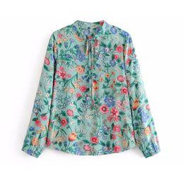 $enCountryForm.capitalKeyWord UK - Boho blouse 2019 green floral print beach wear summer spring blouses o-Neck long Sleeve Bohemian beach holiday women casual shirts TOP blusa