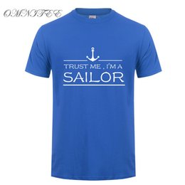 46fbb4080d934 Omnitee New Summer Style Trust Me I m A Sailor T Shirts Men Short Sleeve  Coon Funny Anchor T-shirts Camisetas Clothing OT-729