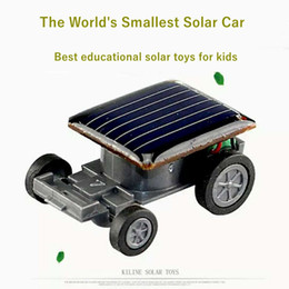 Small Solar powered toy car online shopping - Solar car toy Worlds Smallest Solar Power Energy Racing Car solar educational toy for kids Children birthday Gift