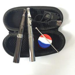$enCountryForm.capitalKeyWord Australia - E cigarette wax pen kit puffco pro Skillet vape starter kit with dual ceramic coil dual quartz coil ceramic chamber W6 vaporizer