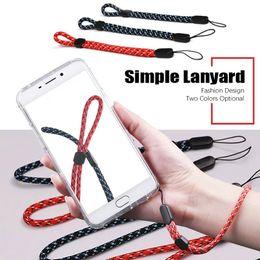 Levers Universal NZ - Simple Fashion Mobile Phone Lanyard Men And Women General Short Wrist Rope Digital Camera Self Timer Lever Short Lanyard 500pcs lot