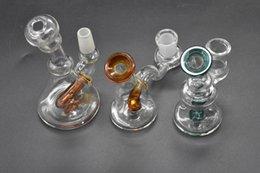 $enCountryForm.capitalKeyWord Australia - mini Glass oil rigs Bongs Thick Recycler Mini 14mm female male Glass Bong Water Pipes Pyrex Oil Rigs Glass Bong for smoking