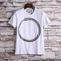 7278d1fb2ac 18ss Fashion Italy Luxury Brand Tshirt Designer Embroidery Medusa Geometry  Flowers Letter Men Casual Round Neck Women T-shirt Shirts Tee Top