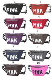 Bolsa de viagem bolsa de ombro ROSA bolsos de esportes VS bolsos de praia fitness aslant bag Carta impermeável Beach Bags 10colors.