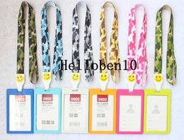 neck badge holders Australia - 10 Vertical Style Business ID Badge Card Holder & Lanyard Neck Strap
