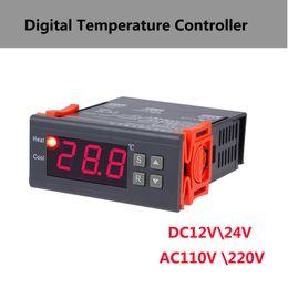12v digital temperature controller thermostat online shopping - 24V V Intelligent Digital thermostat heating table temperature controller V Temperature sensor Aquarium Incubator Regulator