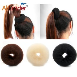 Pack Supplies Australia - 3Pcs Pack Factory Supply Hair Bun Donut Magic Bun Maker Hair Styling Tools Perfect Girls Accessories White Brown Colors