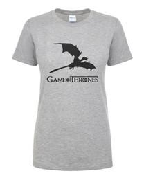 T das mulheres Nova Chegada Game Of Thrones Mãe De Dragões Mulheres Camiseta 2017 Verão Casual Slim Fit Camiseta Feminina de Algodão de Alta Qualidade Tops venda por atacado