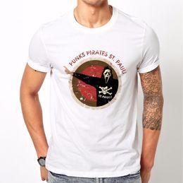 Masculino Bateria Engraçado Algodão Tops 2018 Mais Recente Moda Camiseta Homens De Algodão St Pauli Ultras 100% algodão Venda Quente Top músculo em Promoção