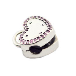 locking clips charm Australia - Fits Charms Bracelets 2018 Spring Lock The Promise of Clips Charm beads Original 925 Sterling Silver DIY Jewelry For Women Making Wholesale