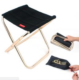 venda por atacado Comprará! Outdoor mini cadeira dobrável camping Caminhadas cadeira de pesca de alumínio, fezes churrasco Banquinho dobrável conveniente e mais leve