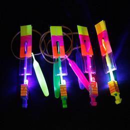 $enCountryForm.capitalKeyWord NZ - Flash Copter Amazing LED Light Up Novelty Children Toys LED Flying Arrow Helicopter for Sports Funny Slingshot Space UFO Flying Light Toy