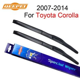 "Car Window Rubbers NZ - QEEPEI 26""+14"" Window Windsiheld Wiper Blade For Toyota Corolla 2007-2014 Car Accessories Auto Rubber Windscreen Wipers CPU701"
