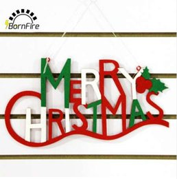 zebra pendants Australia - Merry Christmas Non-woven Letter Xmas Tree Ornaments Christmas Decorations For Home Party Hanging Pendant and Drop Ornament