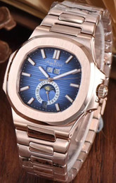 mechanical moonphase 2018 - Luxury Brand New Automatic Mechanical Men Watch Sapphire Transparent Glass MoonPhase Watches Rose Gold Black Blue Rubber