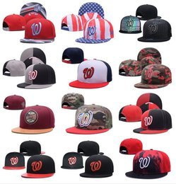 41cefcfc2d0 Wholesale Men s Baseball Hats Bones FOR SALE Sport Team High Quality  Nationals Flat Snapback Adjustable Caps With Embroidered Team Logo