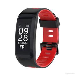 Sport Pulse Heart Rate Monitor Australia - New Bluetooth 4.0 F4 Smart Sport Bracelet IP68 Swimming watch Heart Rate Monitor Blood pressure Oxygen Outdoor Altitude UV GPS Wristband