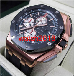 wrist watch buckle Canada - Luxury Watch ROSE GOLD 0FFSHORE ROO CHRONOGRAPH 26401R0 44mm NEW Quartz Mens Watch Men's Wrist Watches