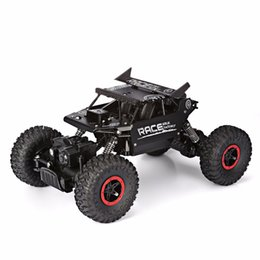 Discount toys climb - 1 18 4WD 2.4GHz Rock Crawlers Rally climbing Car Bigfoot Car Remote Control Model Off-Road Vehicle Toy