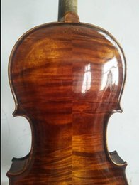ebony flame 2019 - Master 4 4 violin STAINER model nice flamed maple back full hand made violin cheap ebony flame