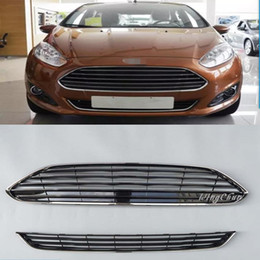 $enCountryForm.capitalKeyWord NZ - High Quality ABS Front Racing Grills Upper + Down Grill Fit For Ford Fiesta 2013 2014 Accessories 2pcs set