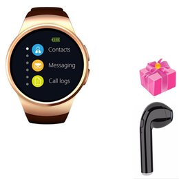 Discount kw88 smart watch - smart watch Kingwear kw18 pk kw28 kw88 s99a y1 with heart rate monitor smart phone fitness tracker for Android+free head