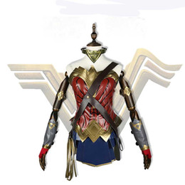 Wholesale costume wonder woman for sale – halloween Movie Batman v Superman Dawn of Justice Wonder Woman Cosplay Costume For Adult Women Fashion Outfit Clothing Carnival Christmas
