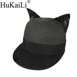 Chinese  Early spring new wool, joining together the natural grass baseball cap lace stereo ear equestrian cap bonnet metal logo manufacturers