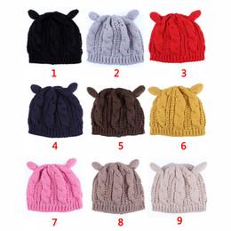 $enCountryForm.capitalKeyWord NZ - Winter Beanie Devil Horns Skull Caps Cat Ear Crochet Braided Hats Fashion Crochet Caps Outdoor Knit Ski Caps Warm Twist Hat Accessories New
