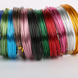 quality metal craft UK - High Quality 5Meters Roll Multi color 1.5mm(15 gauge) Diameter colored aluminum wire for Jewelry Making DIY Metal Crafts