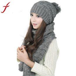 $enCountryForm.capitalKeyWord Canada - JECKSION 1Set Women Scarf Hats Fashion Warm Winter Woolen Knit Hood Shawl Caps Suit #LYW