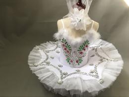 White Tutus For Girls Australia - Girl Feather BallerinaTutu Costume Child Sequins White Swan Lake Tutu Dance Dress Ballet Dance suits designed for children