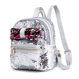 84a0769f6329 2018 New Christmas Gift Women Shining Sequins Backpac Teenage Girls Party  Mini School Bags Shining Backpacks