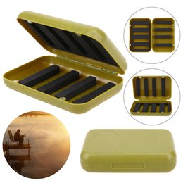 Plastic Fishing Lure Box Case Australia - Waterproof ABS Durable Plastic Foam Fly Fishing Lure Bait Flies Hook Storage Case Cover Box Fishing Lures Tackle Accessories