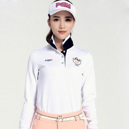 Discount south korean clothes - Golf Clothes Women's Long-sleeve T-shirt South Korean Uniforms Top Quality Golf Women T shirt Free Shipping