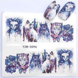 Tiger Tools Australia - Nail Sticker Water Decals Tiger Cat Wolf Nail Slider Art design Decoration Manicure Foil Adhesive Wraps Tools Polish Pegatinas